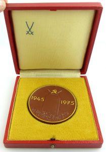 Seltene Meissen Medaille im Etui: 1945-1975 30. Jahrestag der Befreiung e1326