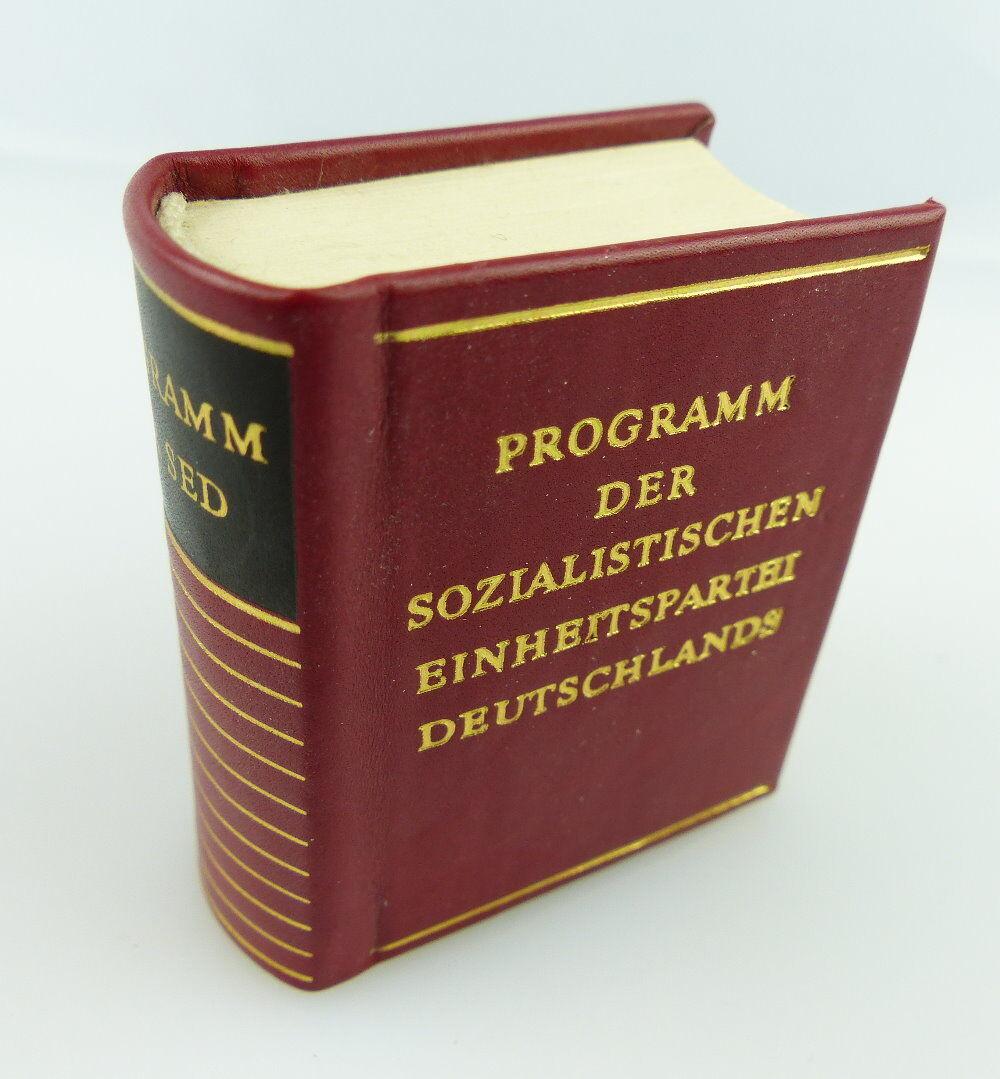 Minibuch: Programm der SED Offizin Andersen Nexö 1977 e269