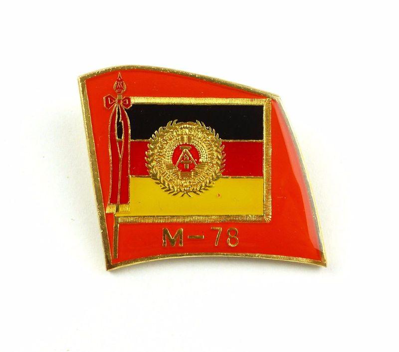 #e7674 Anstecknadel / Abzeichen für Manöverbeobachter M-78 DDR goldfarben 1978