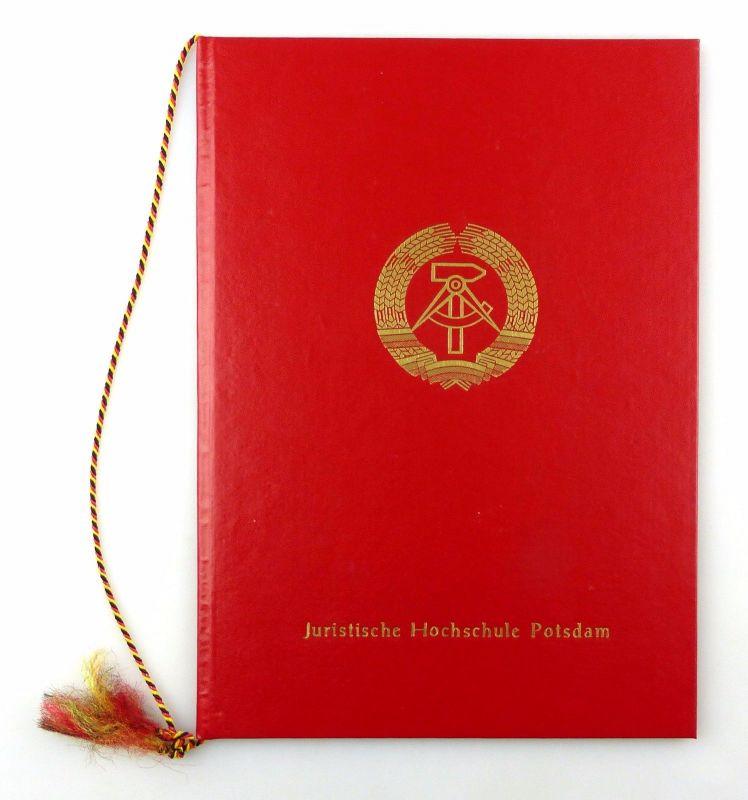 #e6559 Große Urkundenmappe rot Juristische Hochschule Potsdam