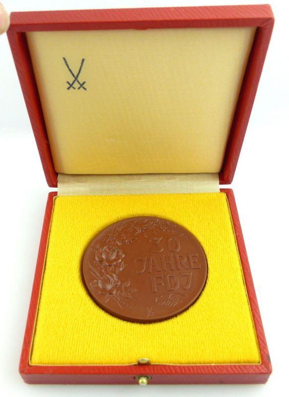 Meissen Medaille im Etui: 1976 30 Jahre FDJ e1327