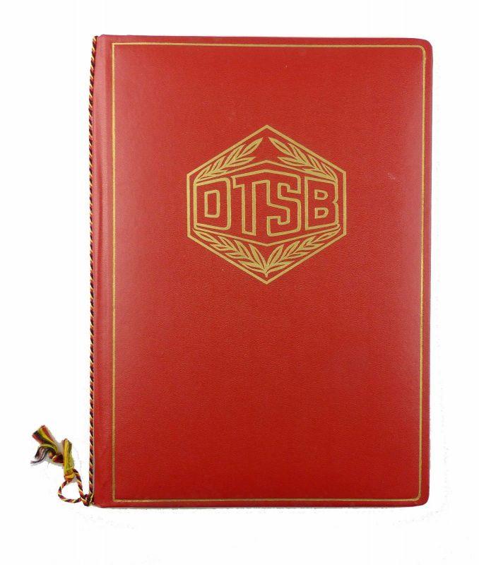 #e6555 Große Urkundenmappe rot DTSB Deutscher Turn- und Sportbund der DDR