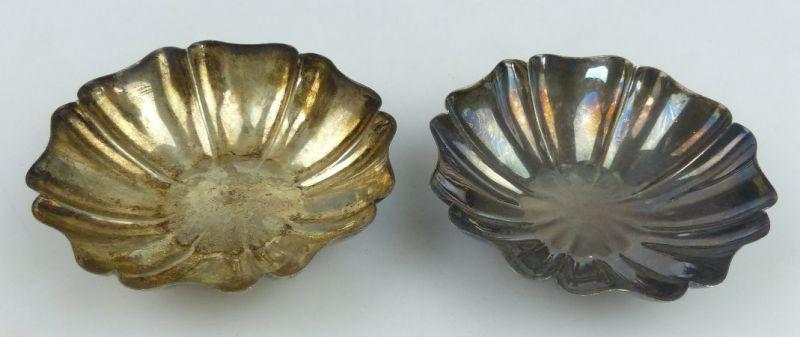 2 dekorative Schalen in 835 (Ag) Silber, norb799