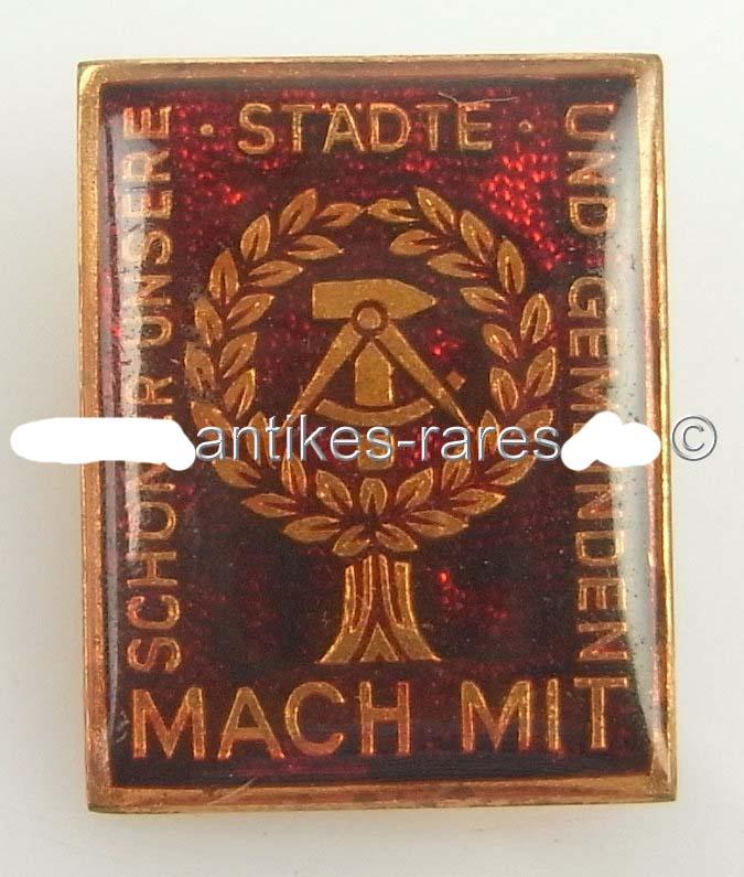 DDR Abzeichen der Mach-Mit-Bewegung