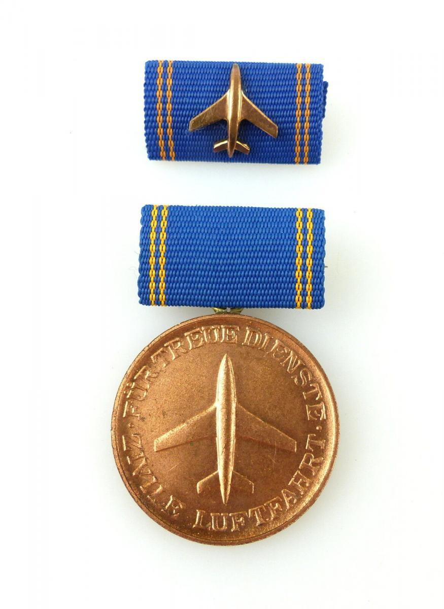 #e2462 Medaille für 5 Jahre treue Dienste in der zivilen Luftfahrt in Bronze DDR