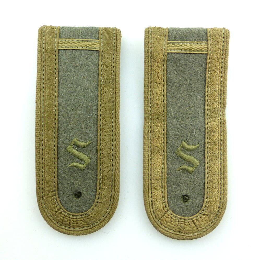 #e4463 1 Paar original DDR Schulterklappen Offiziersschüler Felddienst