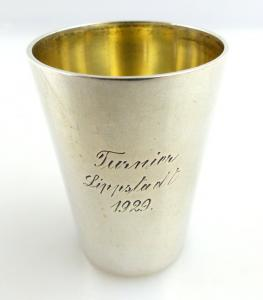 Original alter Schnapsbecher /Wodkabecher aus 800 (Ag) Silber BSF e1284