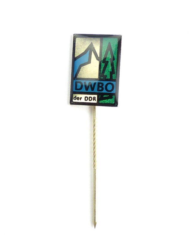 #e6224 DDR Anstecknadel Mitgliedsabzeichen DWBO der DDR silberfarben