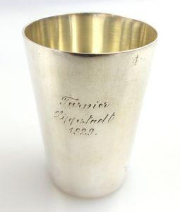 Original alter Schnapsbecher /Wodkabecher aus 835 (Ag) Silber WTB e1282
