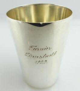 Original alter Schnapsbecher /Wodkabecher aus 835 (Ag) Silber WTB e1281