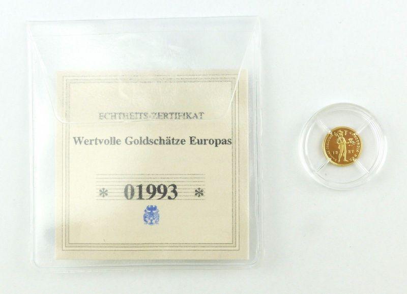 #e7267 Münze Wertvolle Goldschätze Europas 585 Gold *01993* Ritter Dukat