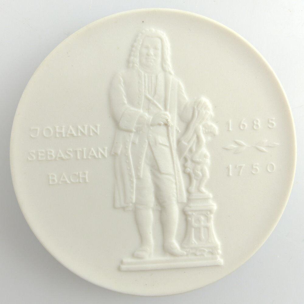 #e3204 Meissen Medaille Bachhaus Eisenach Johann Sebastian Bach 1685 - 1750