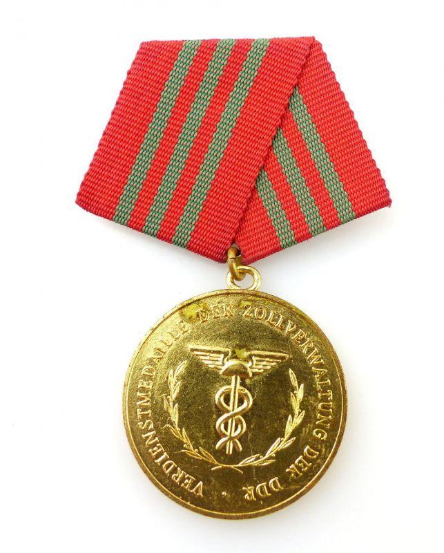 #e2457 Verdienstmedaille der Zollverwaltung in Gold der DDR Band I Nr.214