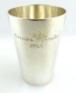 Original alter Schnapsbecher /Wodkabecher aus 835 (Ag) Silber WTB e1279
