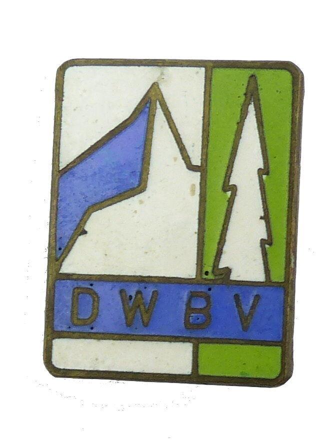 #e6219 DDR Anstecknadel DWBV Deutscher Wanderer- u. Bergsteiger Verband 1958-70
