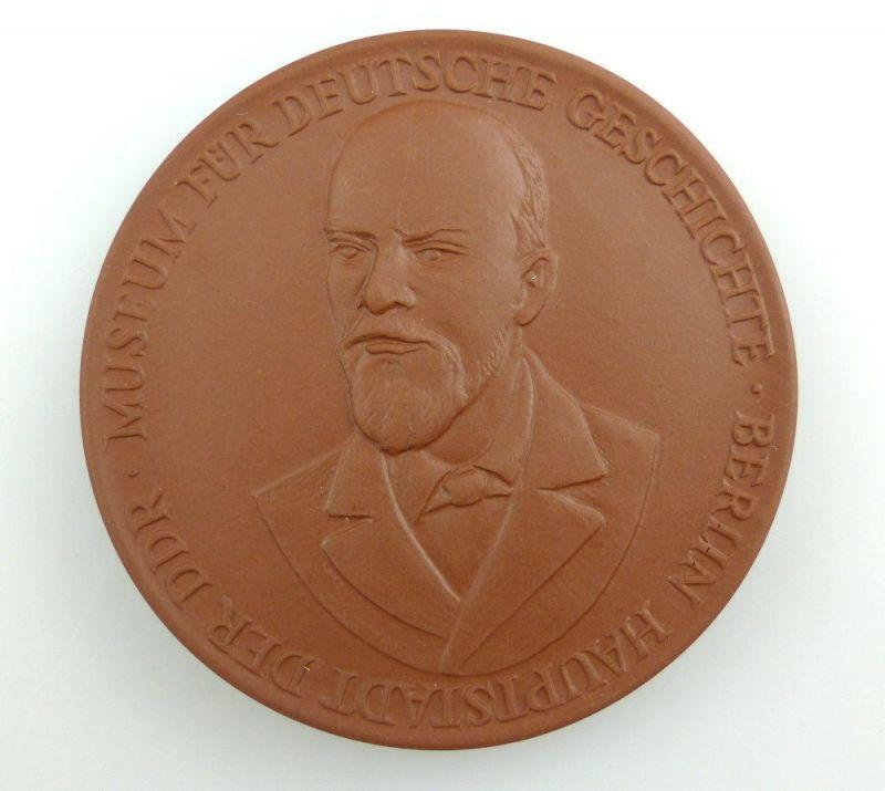 #e2814 Lenin Meissen Medaille Museum für deutsche Geschichte Gedenkstätte Berlin