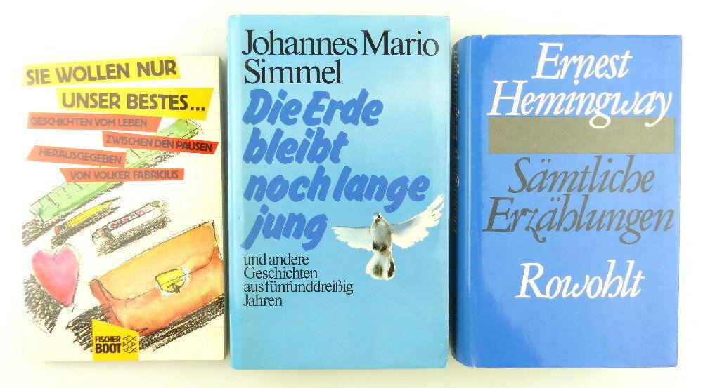 3 Bücher: Die Erde bleibt noch lange jung, sämtliche Erzählungen...e1278