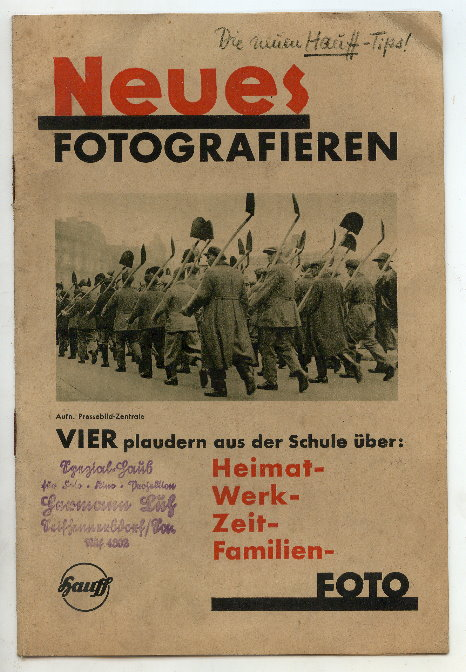 Zeitschrift: HAUFF, Neues Fotografieren