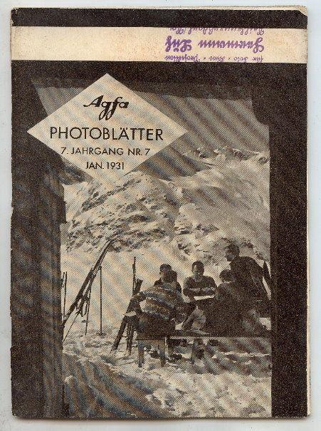 AGFA Photoblätter 7. Jahrg. Nr. 7, Januar 1931 Buch0694