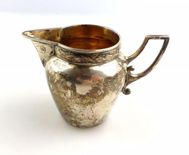 #e5400e Kleines Milchkännchen / Sahnekännchen in 800 (Ag) Silber