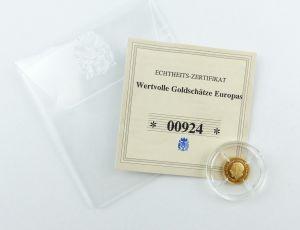 #e7254 Münze Wertvolle Goldschätze Europas Georg V. Souvereign 585 Gold *000924*