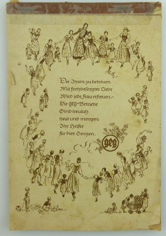 Original alter seltener Abreißkalender, komplett, geg Betriebe, von 1941 e931