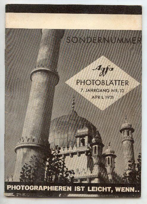 AGFA Photoblätter 7. Jahrg. Nr. 10, 1931 Sondernummer Buch0688