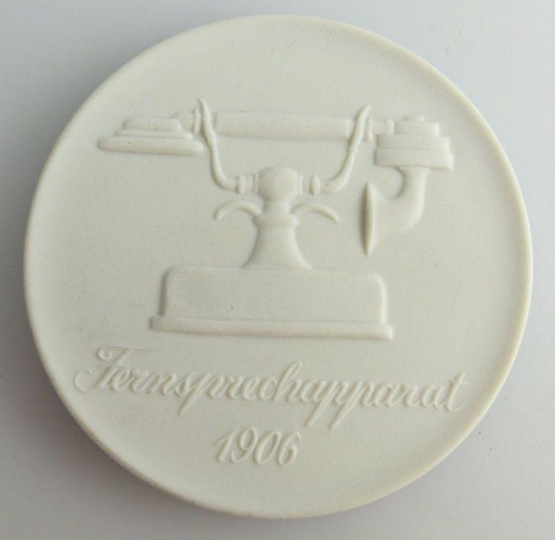Meissen Medaille: Postmuseum der DDR Berlin Fernsprechapparat 1906, Orden2640
