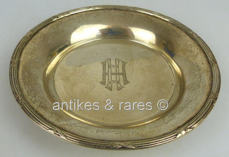 Dekorative Schale in 800 (Ag) Silber Halbmond & Krone Dt. (norb644)