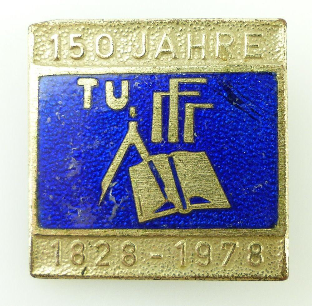 #e2439 150 Jahre TU Dresden 1828-1978 DDR Emaille Abzeichen