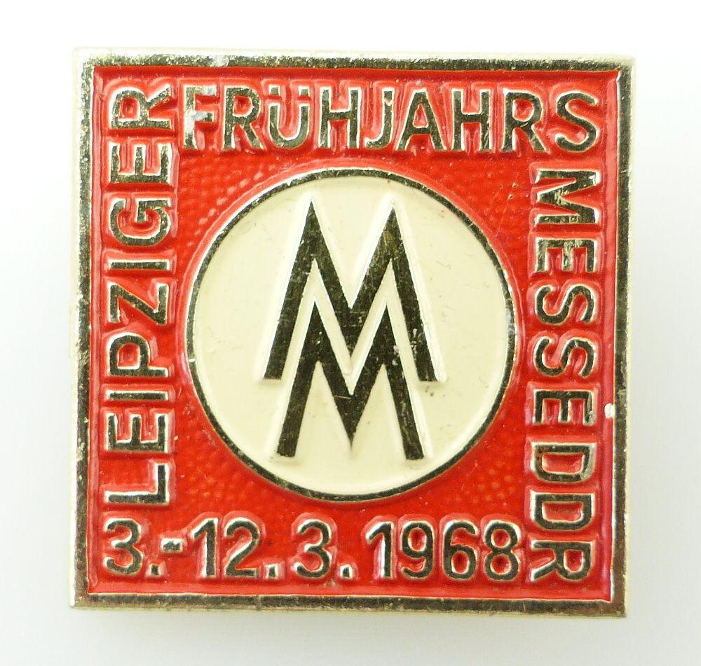 #e2438 Leipziger Frühjahrsmesse DDR 3.-12.3.1968 Abzeichen