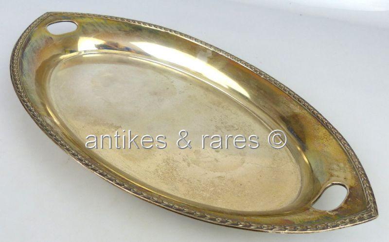 Dekorative Schale / Tablett in 800 (Ag) Silber Wilhelm Binder (norb642)