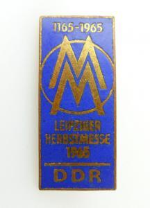 #e2437 MM Leipziger Herbstmesse 1965 DDR 1165-1965 Abzeichen