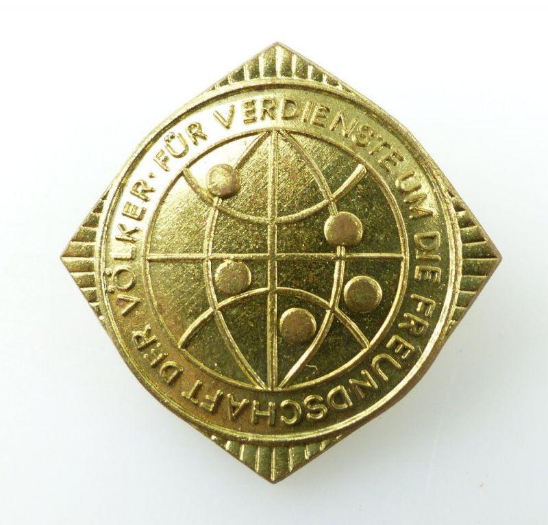 #e2043 Liga für Völkerfreundschaft der DDR Abzeichen goldfarben