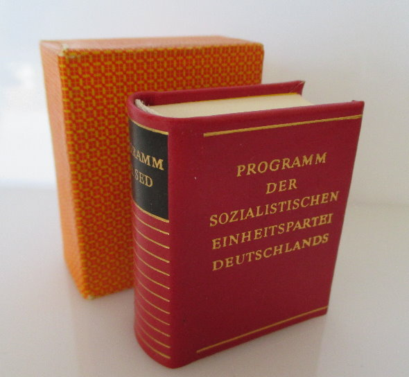 Minibuch Programm der sozialistischen Einheitspartei Deutschlands bu0152