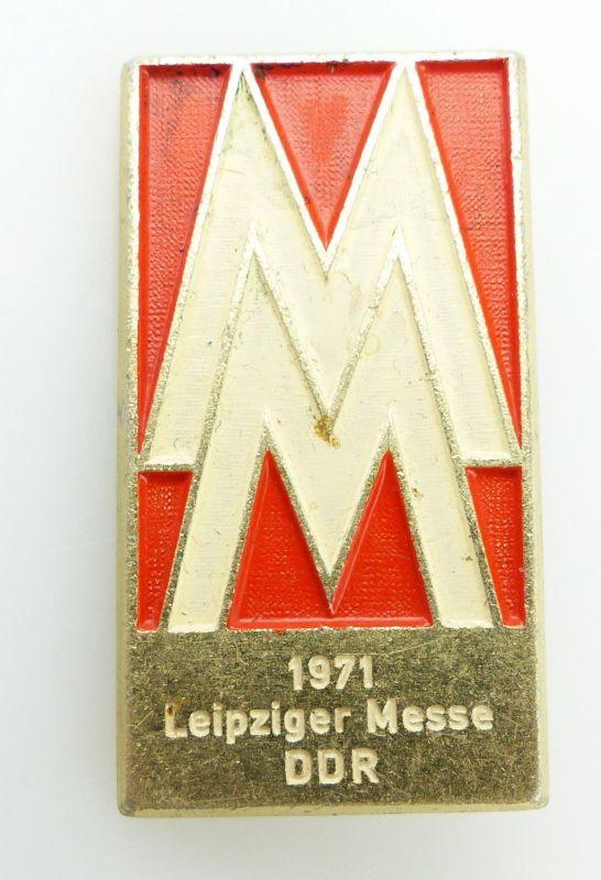 #e2435 MM Leipziger Messe 1971 DDR PGH Bijou Gotha Abzeichen /Anstecknadel