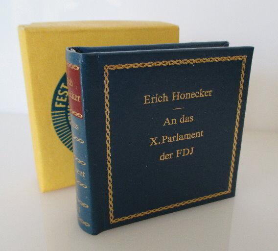 Minibuch: Fest des roten Oktober original signiert von Egon Krenz bu0150
