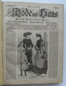 Buch 0150 Mode & Haus, VI. Jahrgang 1890 bis VII.Jahrgang 1891 Zeitungen