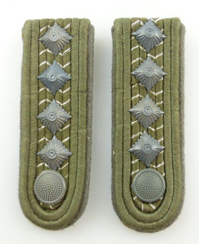 #e3540 1 Paar DDR NVA Schulterstücke Landstreitkräfte Stabsoberfähnrich