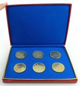 6 GST Medaillen Sozialistische Wehrorganisation der DDR silbrfarben Orden2596