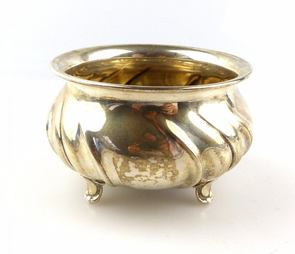 #e4933 Wilkens Zuckerdose Zuckerschale aus 835er Silber nach Dresdener Hofmuster