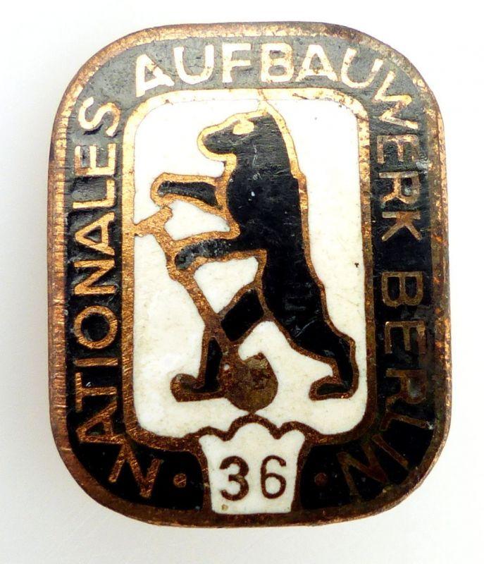 #e2427 Abzeichen Nationales Aufbauwerk Berlin 36 1956-1960