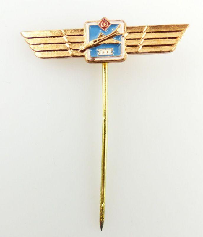 #e2031 Abzeichen für Flugzeugführer Stufe III Miniatur DDR bronzefarben