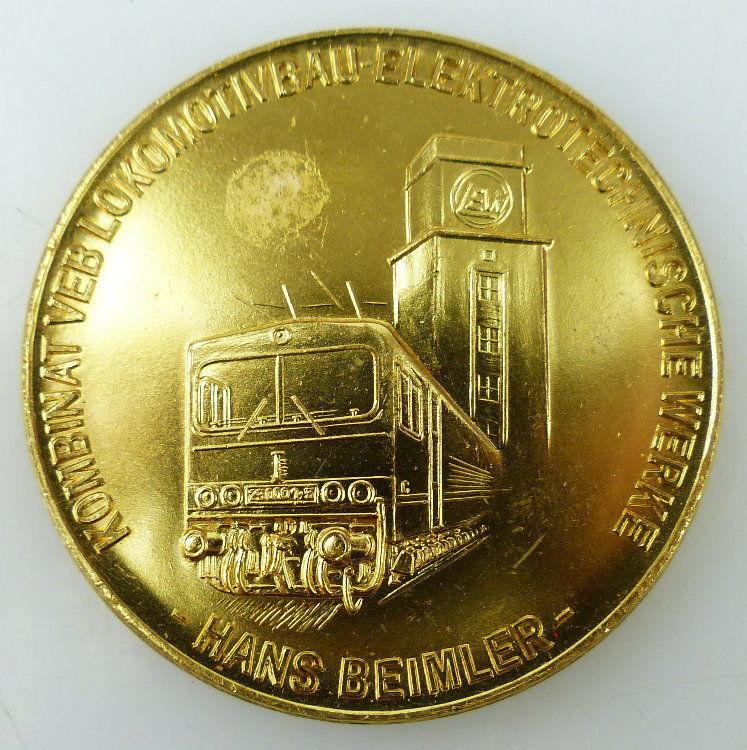 Medaille: Hand Beimler, Kombinat VEB Lokomotivbau Elektrotechnische W, Orden1563