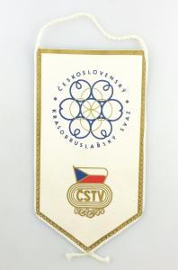 #e6197 DDR Wimpel Ceskoslovensky Krasobruslarsky CSTV
