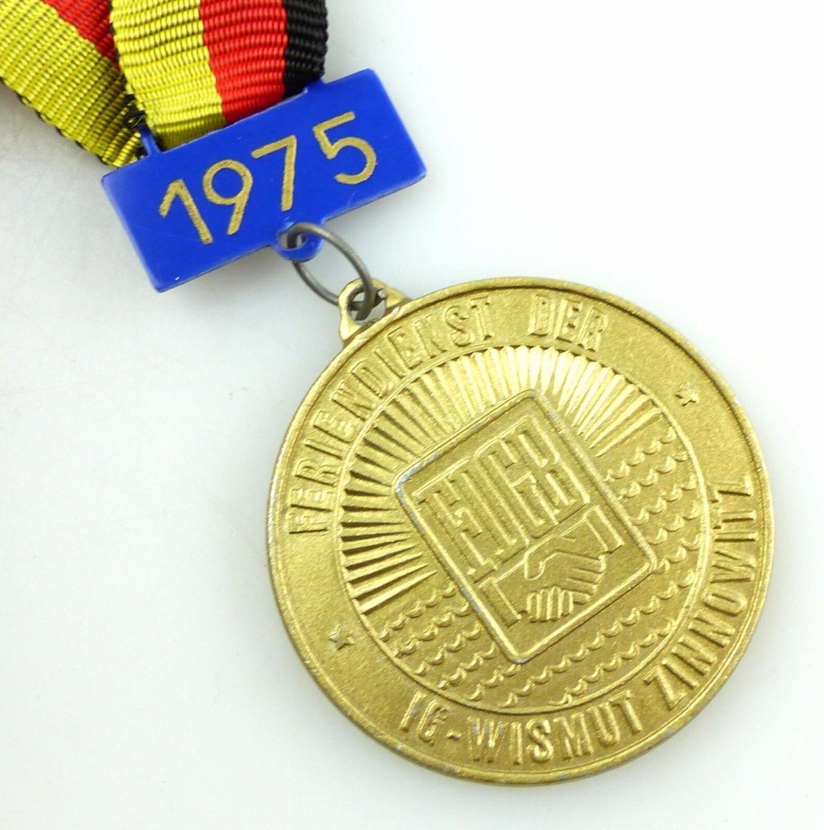 #e5795 DDR Medaille IG - Wismut - Zinnowitz FDGB Feriendienst 1975