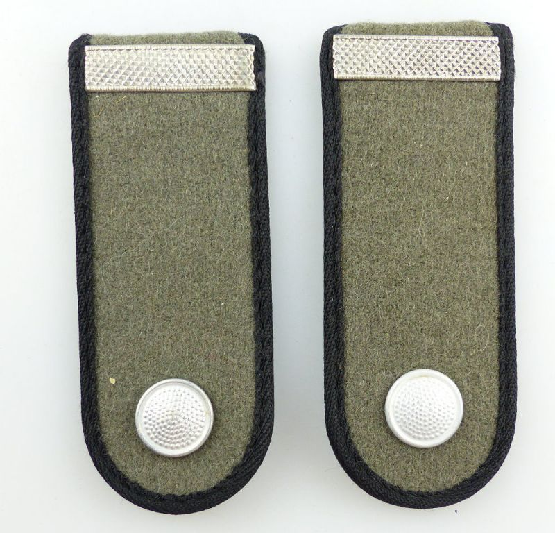 #e3534 1 Paar DDR NVA Schulterstücke Landstreitkräfte Pioniere Gefreiter