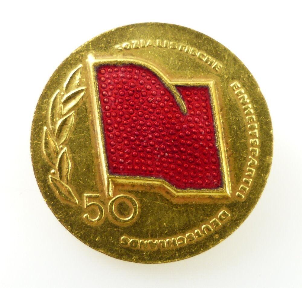 #e2408 SED DDR Abzeichen 50 Jahre Sozialistische Einheitspartei Deutschlands
