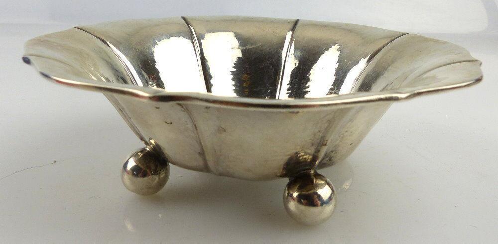Kleine dekorative Schale in 800 (Ag) Halbmond Krone Silber ca.: 52 g, norb843