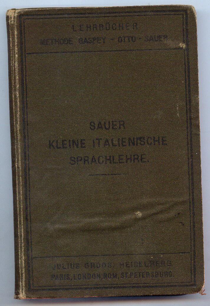 Sauer, Kleine italienische Sprachlehre 1902